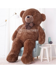 Dark Brown Giant Teddy Bear 220 CM – 86 Inch – NoMo Giant Teddy Bears - Big Teddy Bears - Huge Stuffed Bears