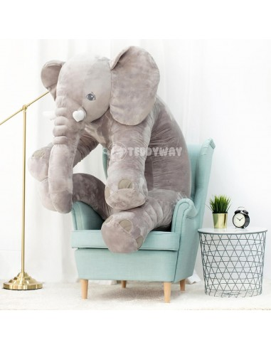 Grey Giant Plush Elephant – 155 Cm – 61 Inch – HoGo Giant Stuffed Elephants