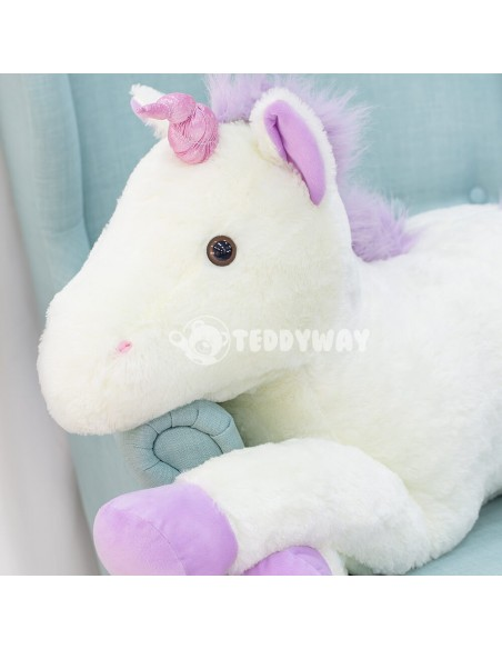 White Giant Plush Unicorn – 70 Cm – 27 Inch – SoSo Giant Stuffed Unicorns