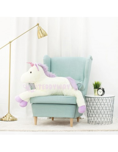 White Giant Plush Unicorn – 155 Cm – 61 Inch – SoSo Giant Stuffed Unicorns